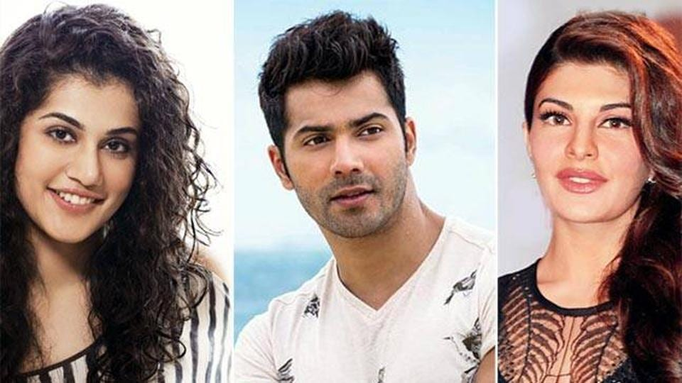 Varun Dhawan plays two characters alongside actresses Jacqueline Fernandez and Taapsee Pannu in Judwaa 2.