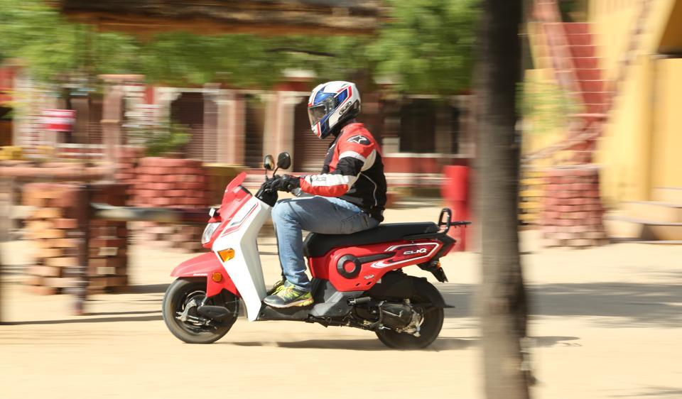 The Honda Cliq uses the same tried and tested 109.19cc engine as the Activa which makes 8.04hp of peak power and 8.94Nm of peak torque. The company claims a top speed of 83kph.