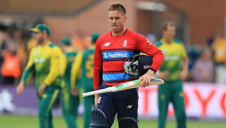 Jason Roy's bizarre dismissal turned the second T20I South Africa's way as the Proteas won by just three runs at Taunton on Friday.