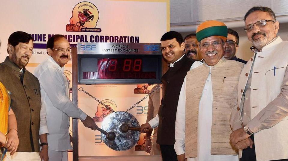 Union minister Venkaiah Naidu and Maharashtra chief minister Devendra Fadnavis had launched the Pune Municipal Corporation's biggest municipal bonds programme on June 22.