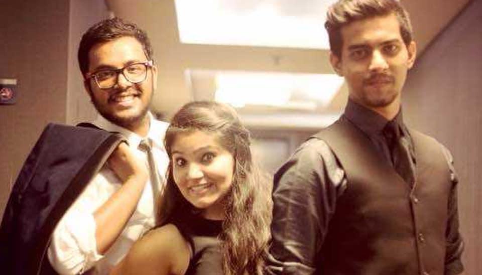 From left: Dikshant Negi, Barkha Sethi and Aashqeen
