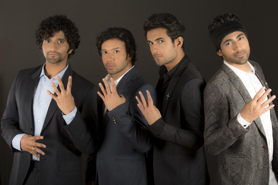 (From left) Venky S, Keshav Dhanraj, Sanam Puri and Samar Puri.