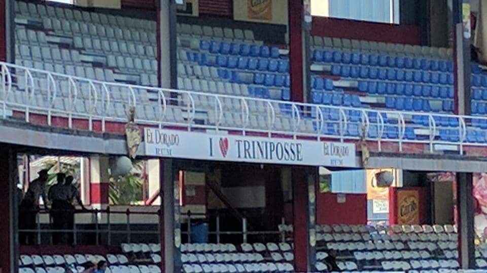 The famous Trini Posse stand, where the DJnormally provides a carnival atmosphere during cricket matches, was absent during the India vs West Indies match in Port of Spain.