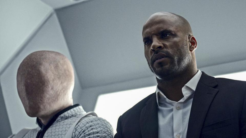 This image released by Starz shows Ricky Whittle in a scene from, American Gods.