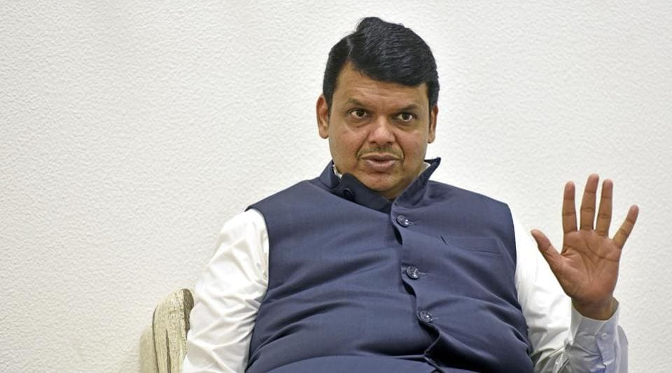 Maharashtra chief minister Devendra Fadnavis during an interview at his residence in Mumbai  on Wednesday.