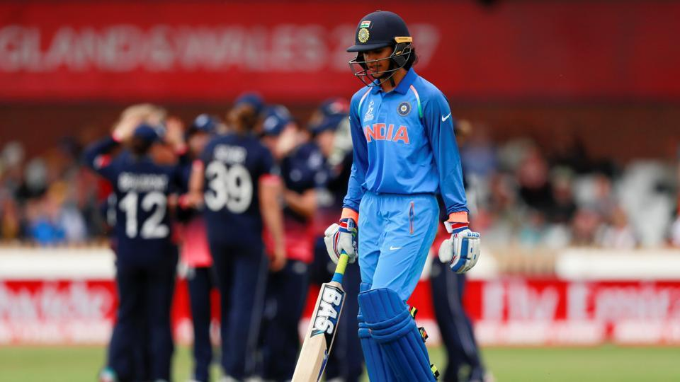 Smriti Mandhana missed out on a century as Heather Knight dismissed her for a magnificent 90 off 72 balls. (Action Images via Reuters)