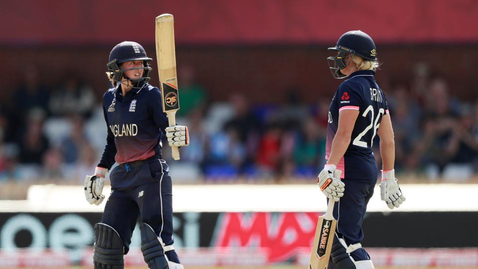 Wilson scored a fifty and she shared a 62-run stand for the sixth wicket with Katherine Brunt. (Action Images via Reuters)