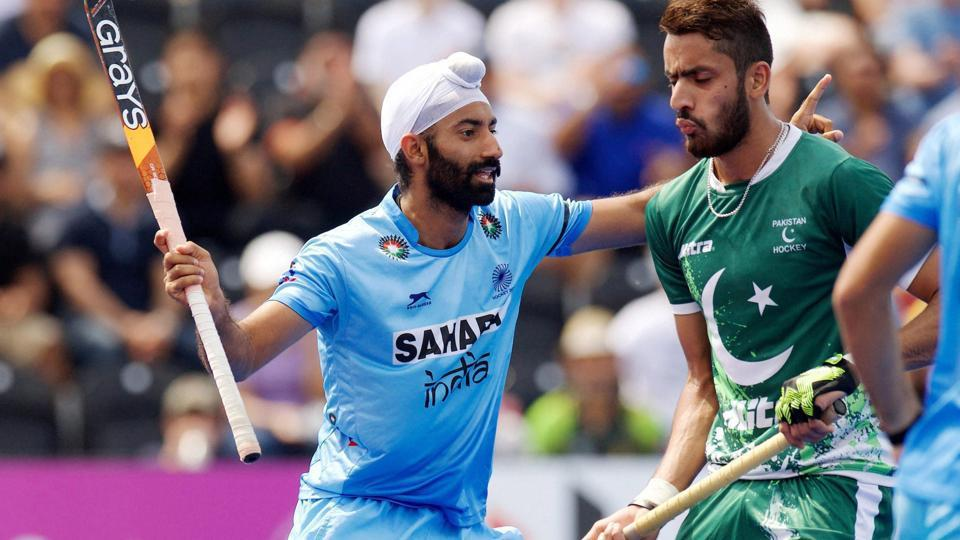 India thrashed Pakistan 6-1 in the Hockey World League Semi-Final in London. Get highlights of India vs Pakistan here.