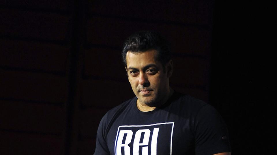Salman Khan poses for a picture during the announcement of his association with PVR Cinema and Being Human Foundation to support their humanitarian initiatives, in Mumbai.