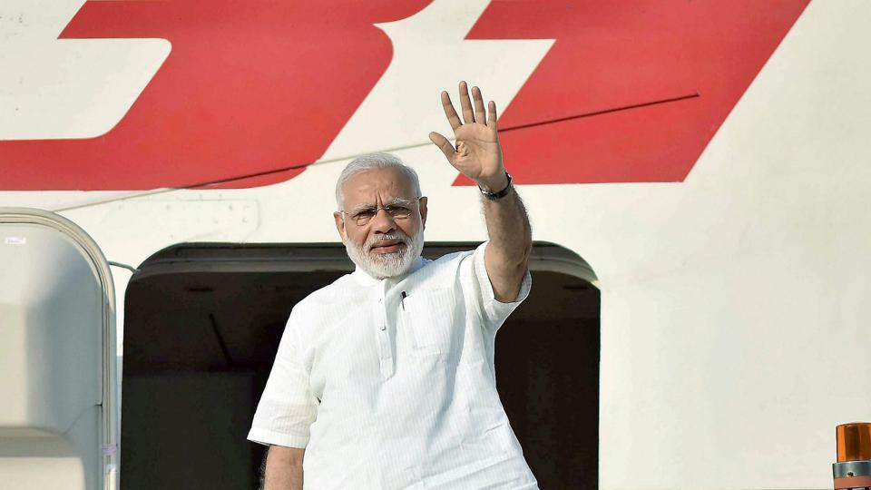 Prime Minister Narendra Modi leaves from New Delhi for his three-nation visit of Portugal, the US and the Netherlands on Saturday.