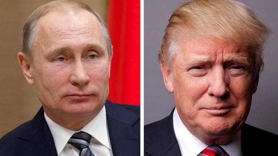 A combination of file photos showing Russian President Vladimir Putin and US President Donald Trump.
