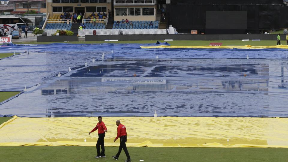 Persistent rain forced the first ODIbetween India vs West Indies to be abandoned in Port of Spain. This was the second consecutive abandoned international match between these two teams at this venue.
