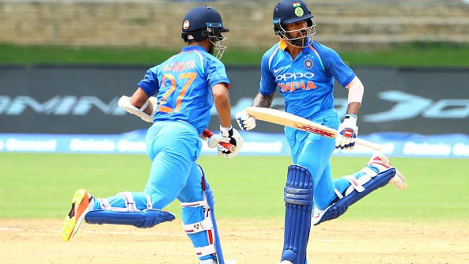 The duo put on a 132-run stand before Alzarri Joseph got rid of Rahane. Dhawan, who looked set to reach the three-figure mark, fell to leg-spinner Devendra Bishoo for 87.  (Getty Images)