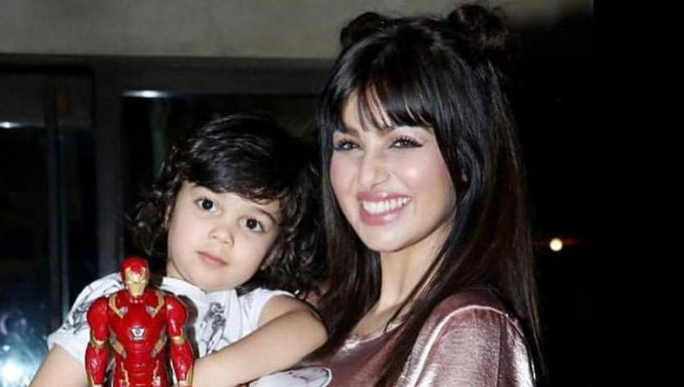 Ayesha with her son Mikail.