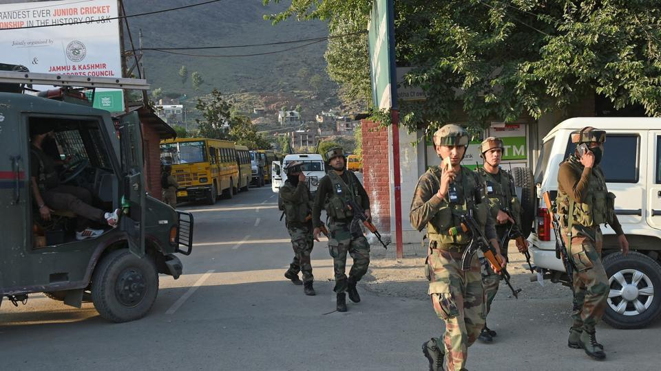 The area near DPS was cordoned off after the CRPF vehicle was attacked by militants at Pantha Chowk in Srinagar.