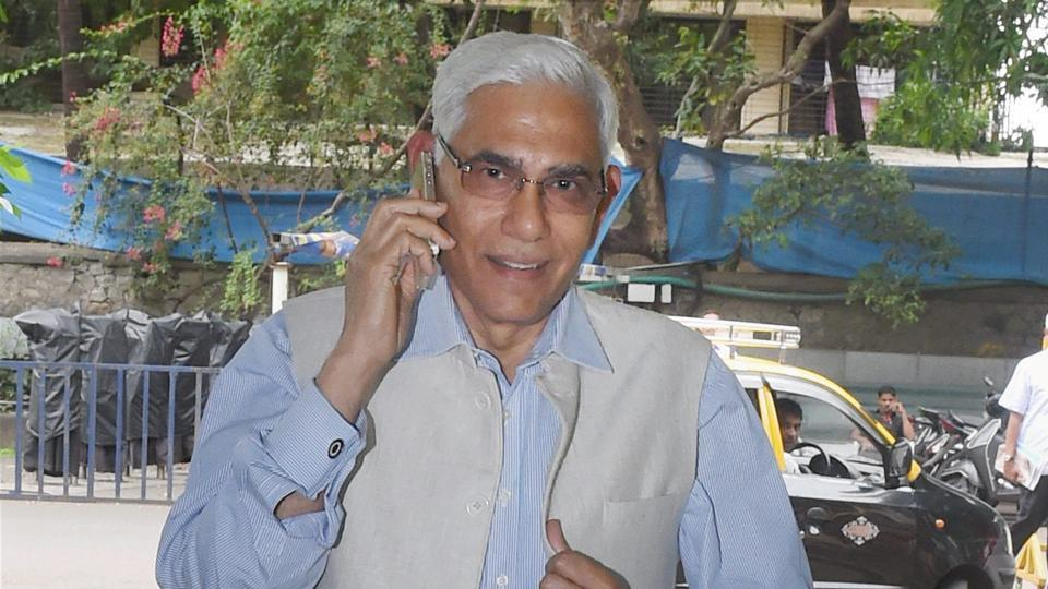 Head of Supreme Court-appointed Committee of Administrators Vinod Rai arrives for a meeting at the BCCI headquarters in Mumbai on Saturday.