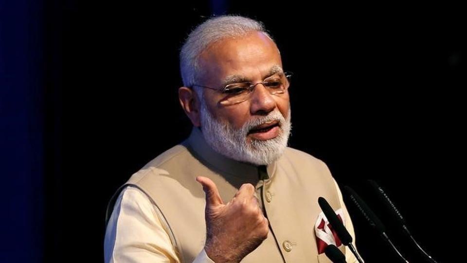 Prime Minister Narendra Modi speaks during the United Nations Vesak Day Conference in Colombo, Sri Lanka.