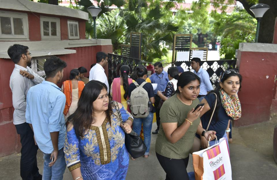 Students and parents are flocking to Delhi University for admissions.