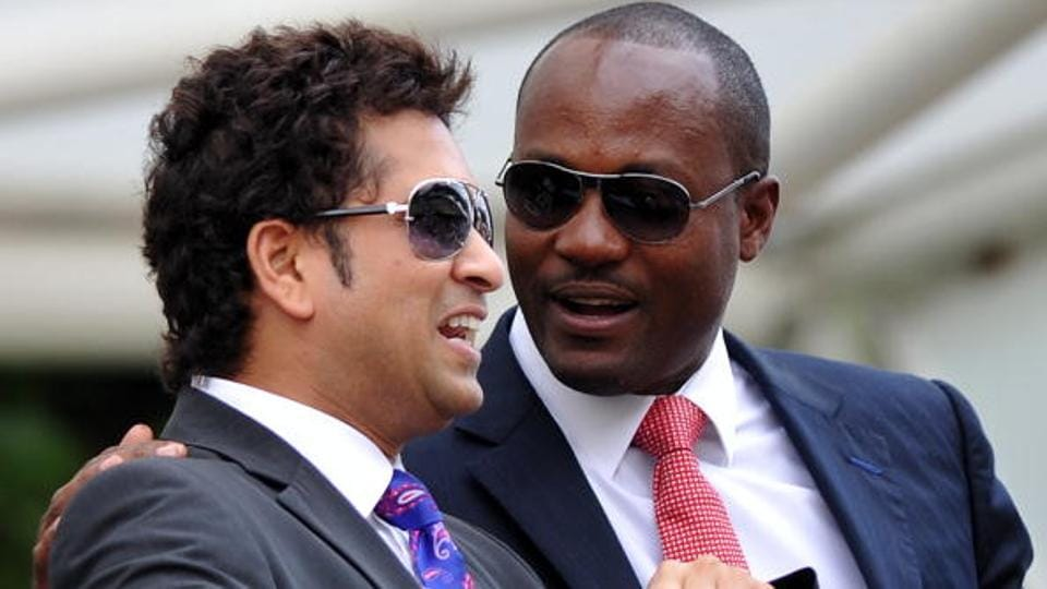 Sachin Tendulkar (L) and Brian Lara are known to be close friends.