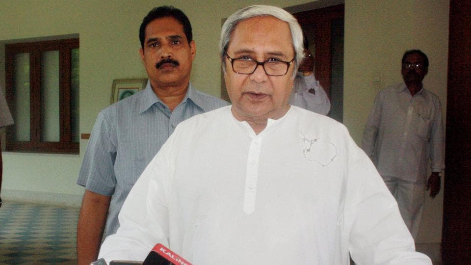 Odisha CM Naveen Patnaik addresses the press at his residence in Bhubaneswar. His BJDwill face a challenge by a resurgent BJPin the 2019 elections.