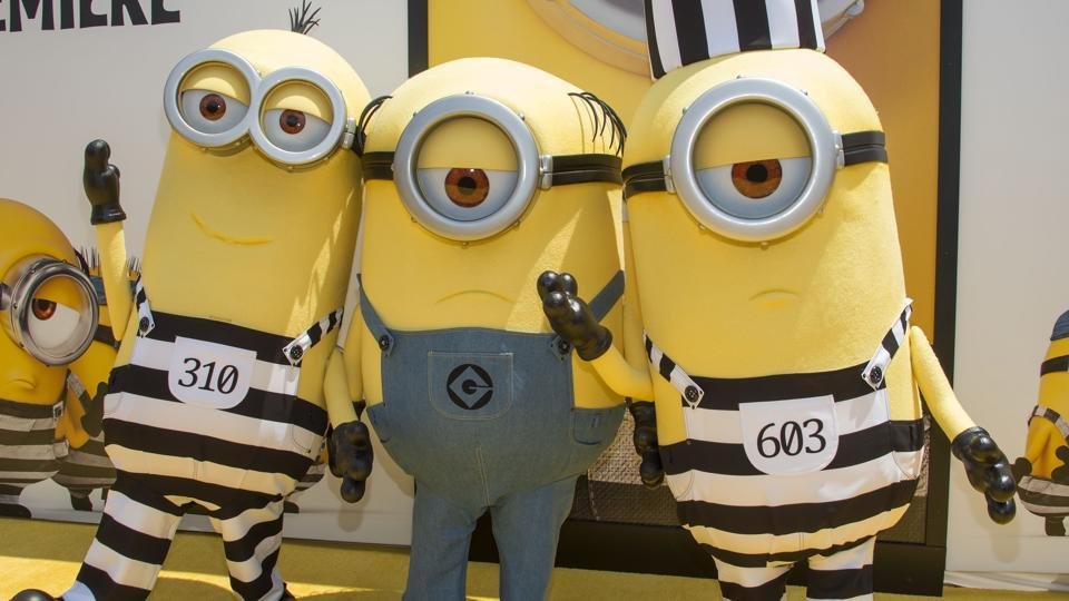 The Minions attend the premiere of Despicable Me 3 in Los Angeles, California.