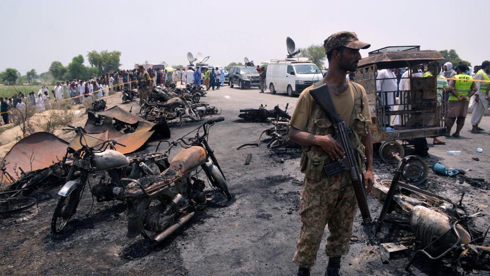 Fire,Oil Tanker Fire,Pakistan
