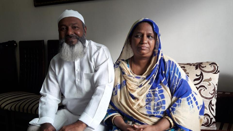 Mohammad Patrel and Saira Patel at their Andheri (West) home.