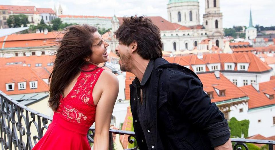 Shah Rukh Khan and Anushka Sharma in a still from the film.