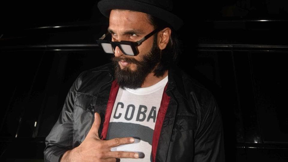 How could Arjun's best friend Ranveer Singh not attend such a party? (Photo: Prodip Guha/HT)
