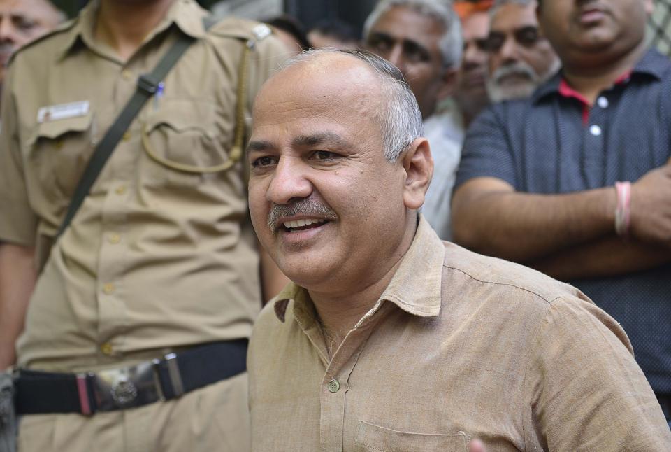 Deputy chief minister Manish Sisodia.
