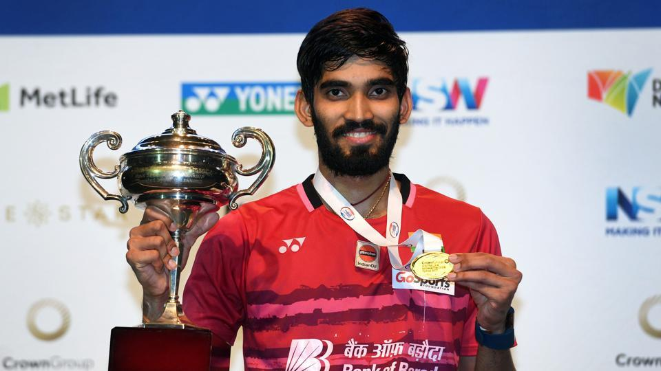 Kidambi Srikanth defeated the World and Olympic champion from China Chen Long, for the first time in six meetings, in the men's singles final to lift the $750,000 Australian Open Superseries crown in Sydney on Sunday.