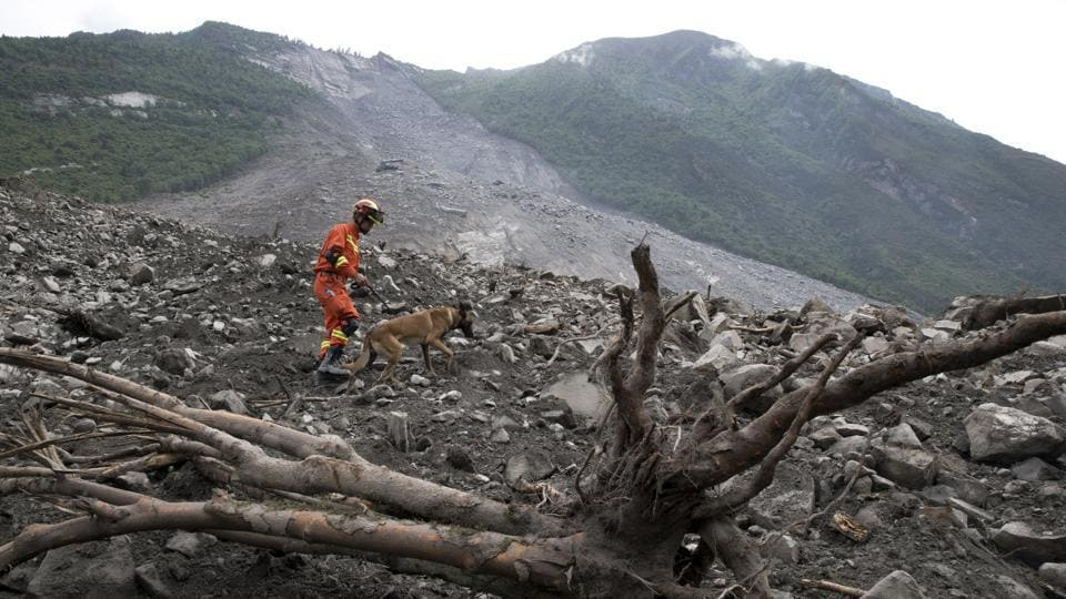 Sichuan province is also prone to earthquakes, including an 8.0 magnitude tremor in 2008 that killed nearly 70,000 people.  (AP)