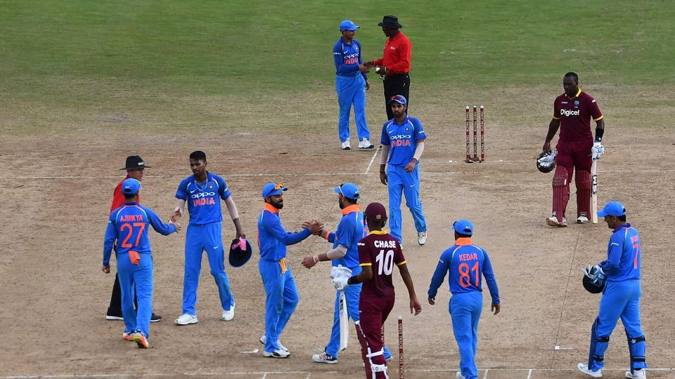 India notched up a 105-run win, their biggest margin of victory over the West Indies in the Caribbean as they took a 1-0 lead in the five-match series. (AFP)