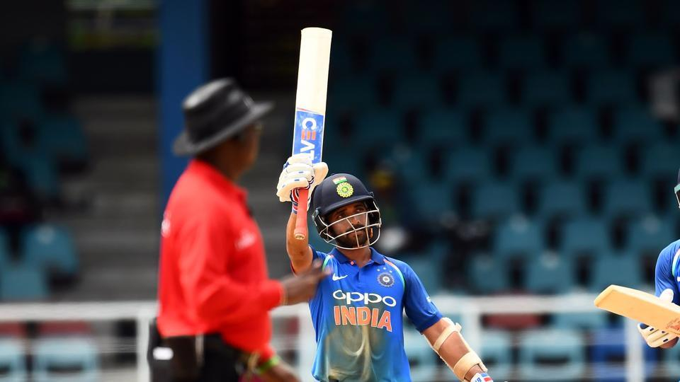 This was Rahane's first hundred in the West Indies and it was his first hundred in ODIs since 2014. (AFP)