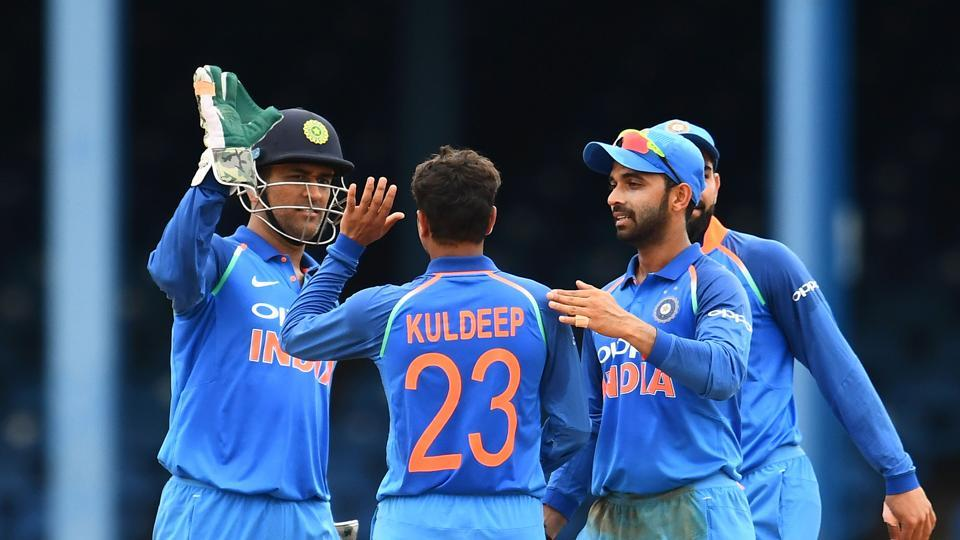 Kuldeep Yadav, who was making his debut in ODIs, put up a fine performance to finish with 3/50. (AFP)