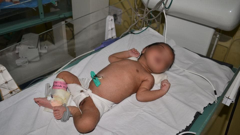 Girl child at a private hospital in Dhanbad