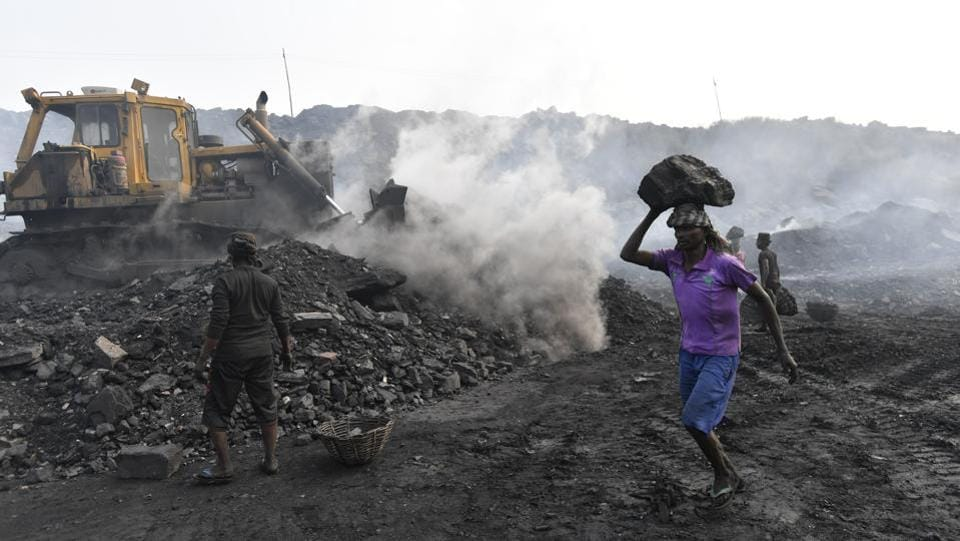 In India, where 70 percent of electricity comes from coal, production has long been increasing in defiance of global trends. The country has long argued it has both a right and an obligation to expand power generation as it extends electricity access to hundreds of millions of people.  (Ravi Choudhary/HT PHOTO)