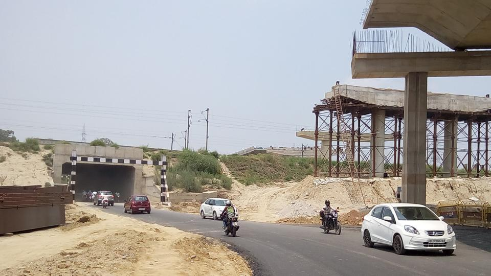 The underpass has come up below the under-construction Hindon elevated road, which will connect Raj Nagar Extension to UP Gate near the Delhi border.