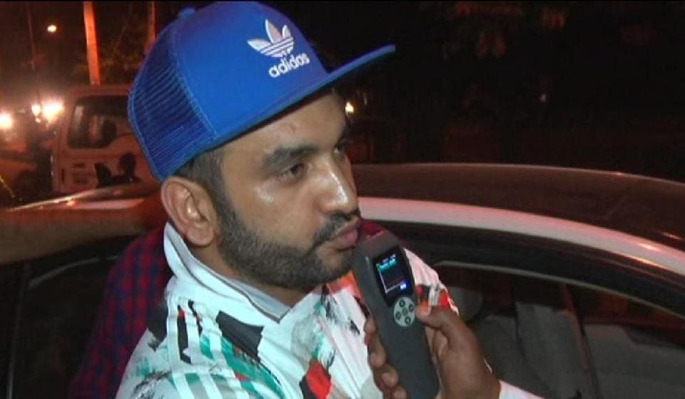 Popular Haryanavi rapper Fazilpuria was caught for drink driving at MG Road.