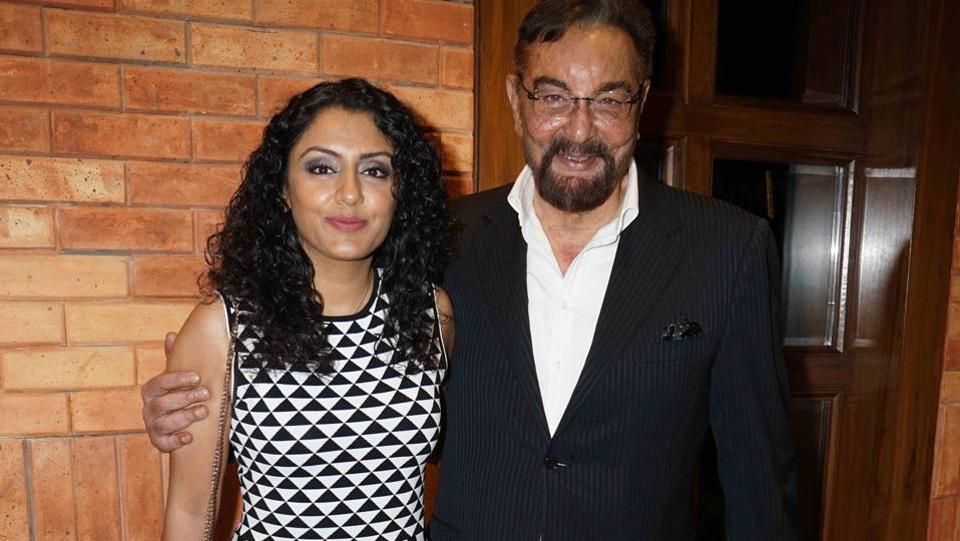 Kabir Bedi came with wife Parveen Dusanj at the event. (Photo: Prodip Guha/HT)