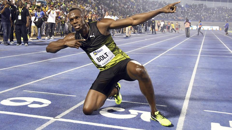 Jamaica's Usain Bolt is competing in his ninth and last Golden Spike on Wednesday.