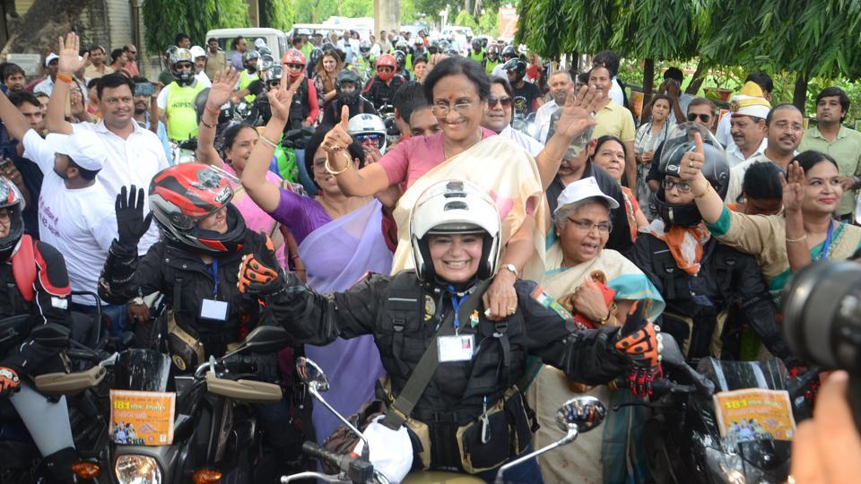 Cabinet minister Rita Bahuguna Joshi flagged off the rally.