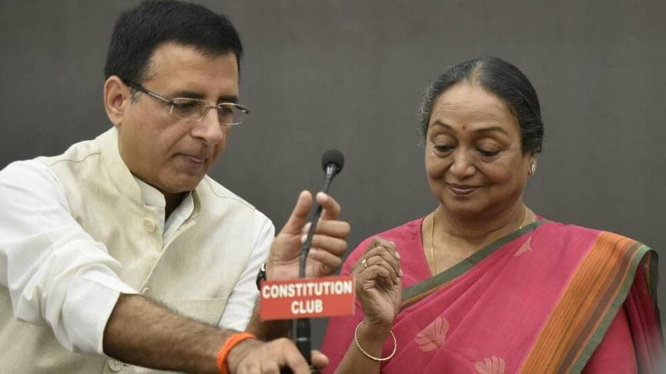 Meira Kumar at the Constitution Club.