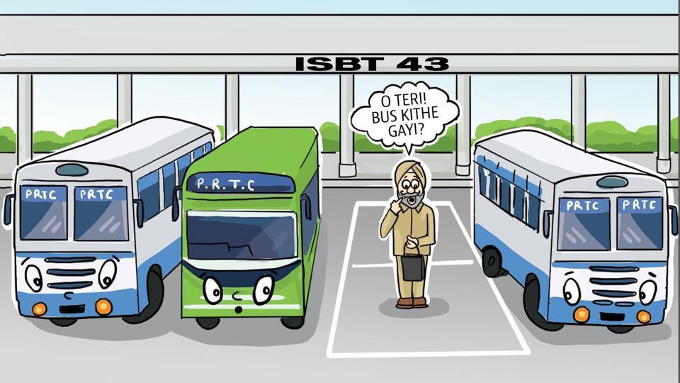 Punjab roadways bus,stolen,theft