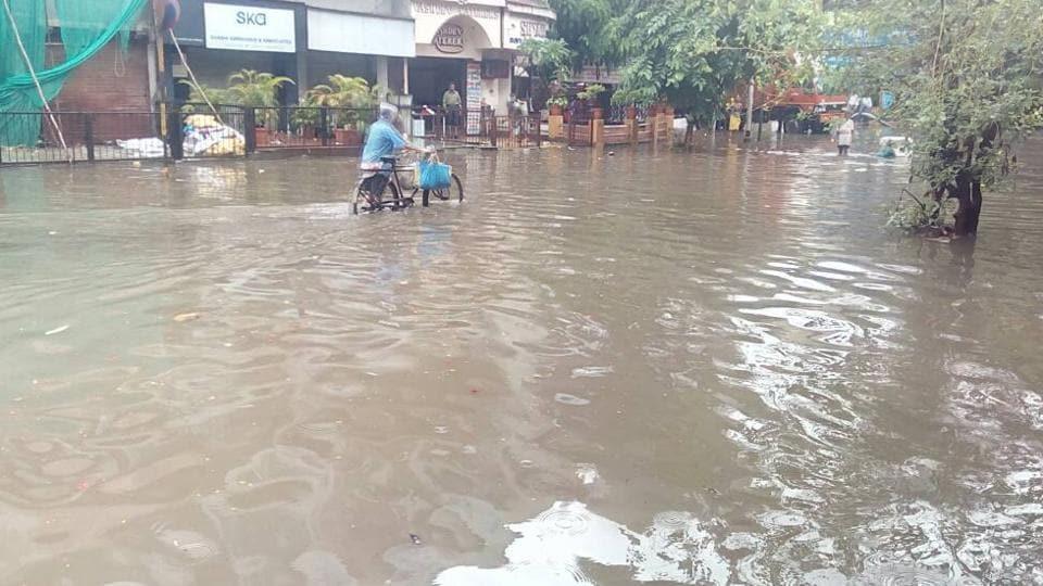 Just like Mumbai (in pic), several parts of Navi Mumbai are flooded.