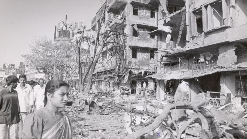 One of the destroyed buildings in Worli.