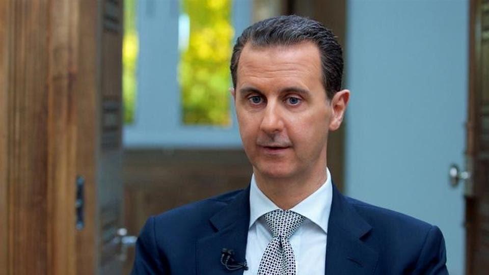 Syria's President Bashar al-Assad speaks during an interview in Damascus, Syria.