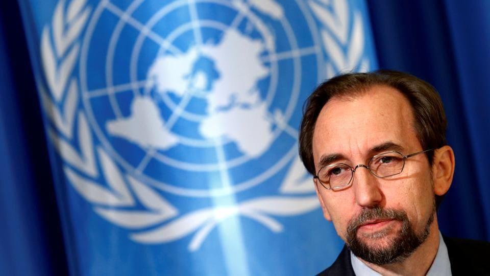 UN high commissioner for human rights Zeid Ra'ad Al Hussein.