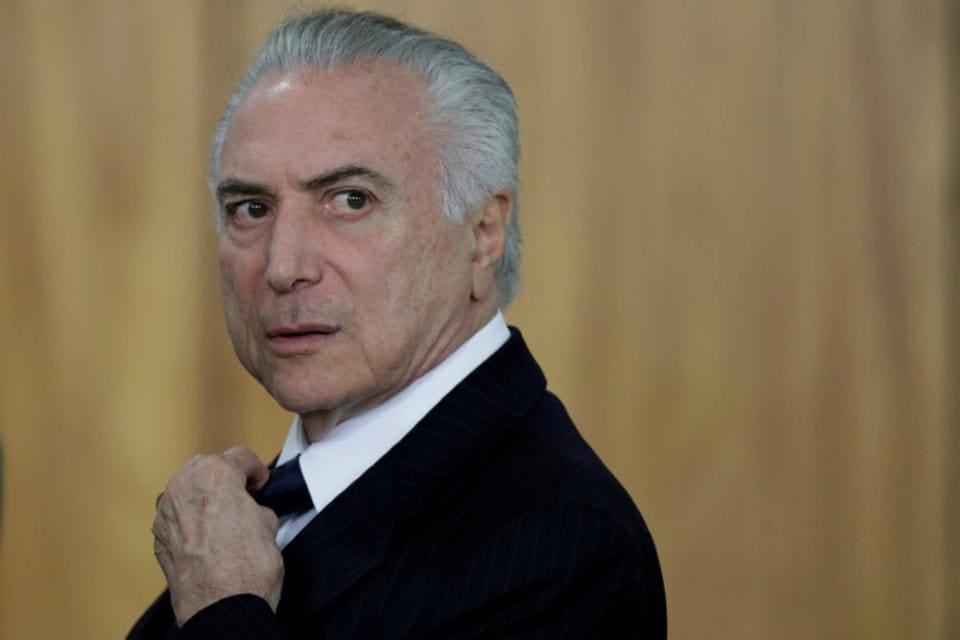 Brazil President Michel Temer at Planalto Palace in Brasilia.