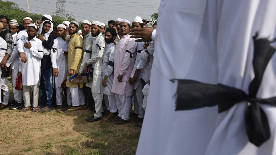 Residents of Junaid's village Khandawali had sported black arm bands on Eid to protest the murder.
